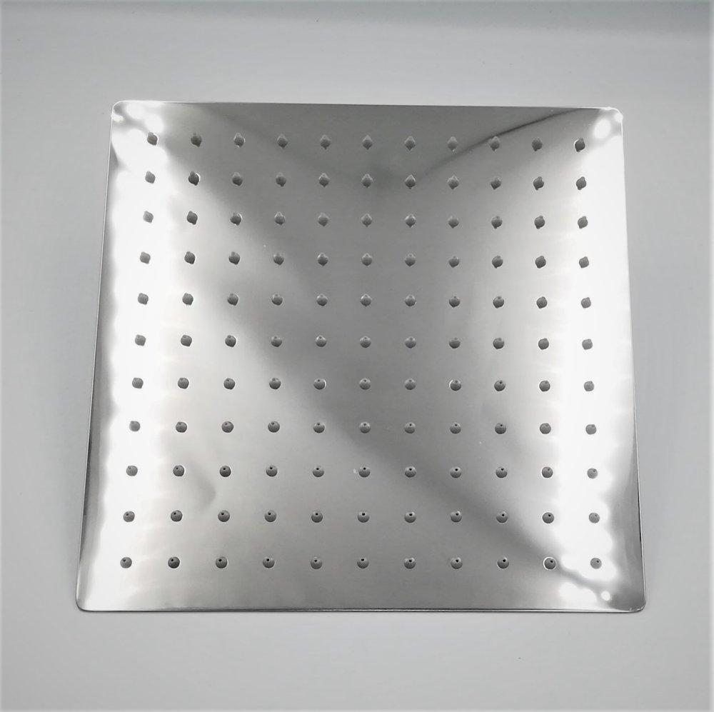 "Regenduschkopf eckig Edelstahl 29,5 cm x 29,5 cm  Gew.1/2""Regenbrause"