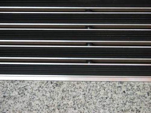 Eingangsmatten  mit TPE  nach Maß, Höhe 15/20/25mm 60 x 40 Höhe 15 mm ALU Rahmen